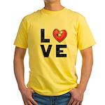L <3 V E Yellow T-Shirt