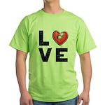 L <3 V E Green T-Shirt