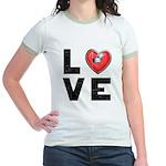L <3 V E Jr. Ringer T-Shirt