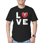 L <3 V E Men's Fitted T-Shirt (dark)
