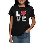 L <3 V E Women's Dark T-Shirt