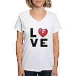 L <3 V E Women's V-Neck T-Shirt