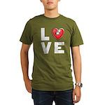 L <3 V E Organic Men's T-Shirt (dark)