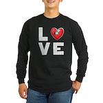 L <3 V E Long Sleeve Dark T-Shirt