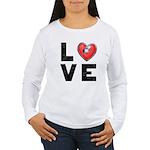 L <3 V E Women's Long Sleeve T-Shirt