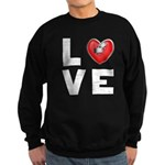 L <3 V E Sweatshirt (dark)