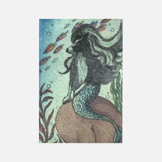 Border Collie dog mermaid Rectangle Magnet