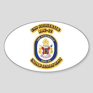 US - NAVY - USS Fitzgerald (DDG 62) Sticker (Oval)