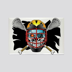 Pirate Lacrosse @ eShirtLabs Rectangle Magnet