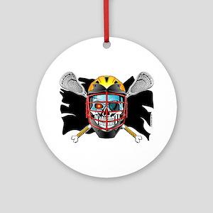 Pirate Lacrosse @ eShirtLabs Ornament (Round)