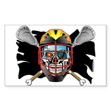 Pirate Lacrosse @ eShirtLabs Rectangle Sticker