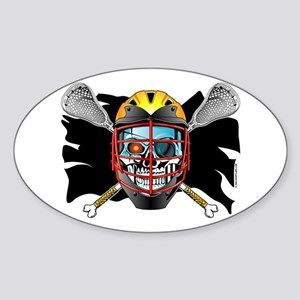 Pirate Lacrosse @ eShirtLabs Oval Sticker