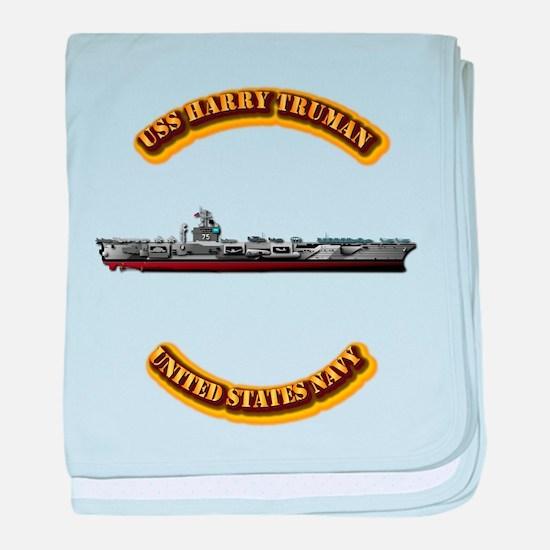 US - NAVY - USS Harry Truman baby blanket