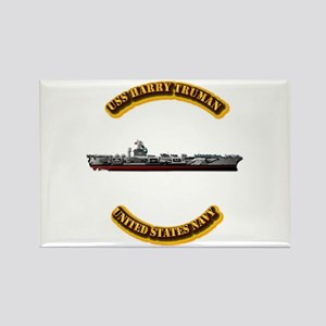 US - NAVY - USS Harry Truman Rectangle Magnet