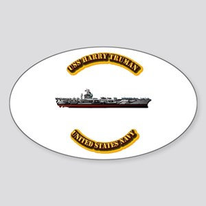 US - NAVY - USS Harry Truman Sticker (Oval)
