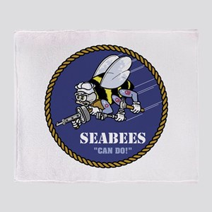 USN Seabees Official Throw Blanket