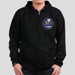 USN Seabees Official Zip Hoodie (dark)