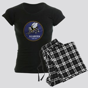 USN Seabees Official Women's Dark Pajamas