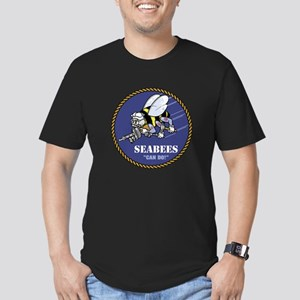 USN Seabees Official Men's Fitted T-Shirt (dark)