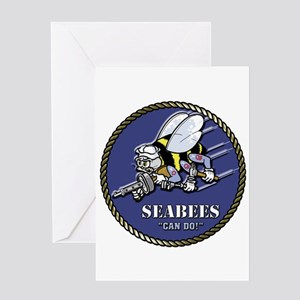 USN Seabees Official Beveled Greeting Card
