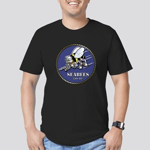 USN Seabees Official Beveled Men's Fitted T-Shirt