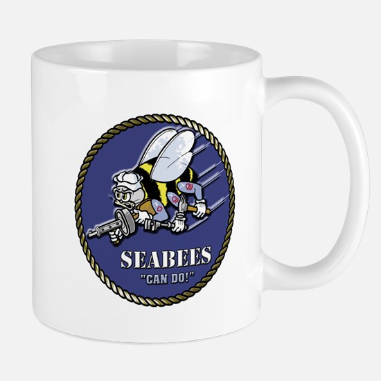 USN Seabees Official Beveled Mug