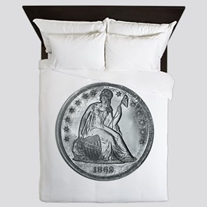 1862 Silver Coin Queen Duvet