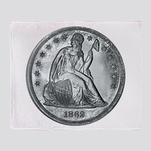1862 Silver Coin Throw Blanket