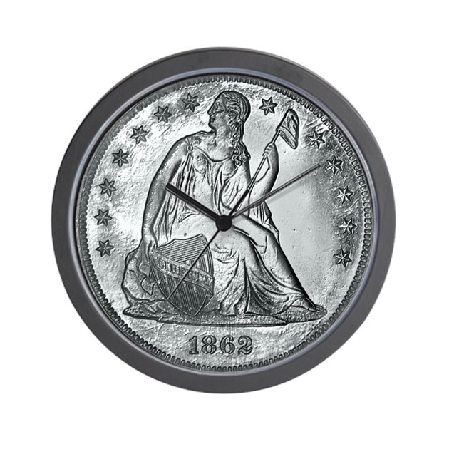 iphone water damage 1862 silver coin wall clock by coins 2012 1862