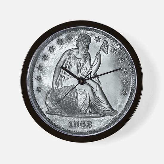1862 Silver Coin Wall Clock