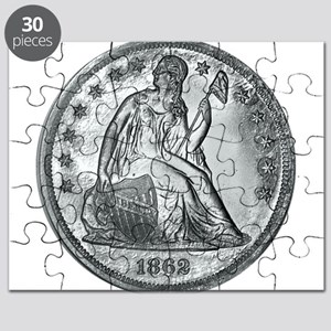 1862 Silver Coin Puzzle