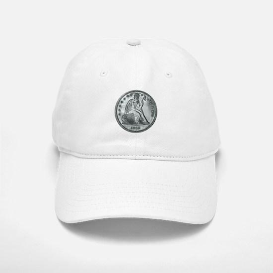 1862 Silver Coin Baseball Baseball Cap