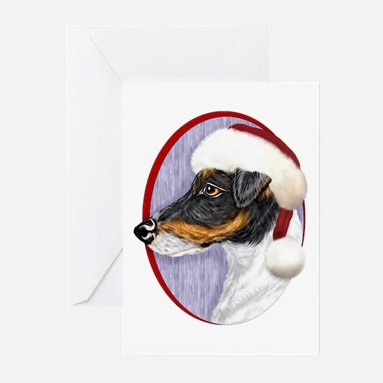 Fox Terrier Santa Greeting Cards (Pk of 10)