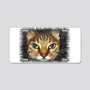 cat Aluminum License Plate