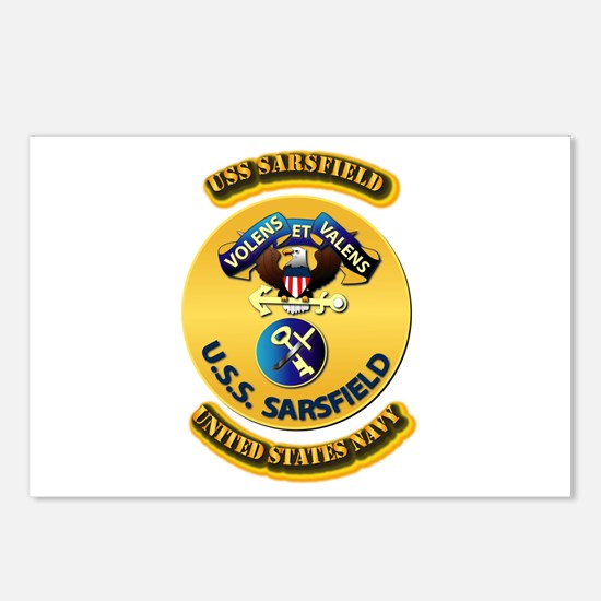 US - NAVY - USS Sarsfield Postcards (Package of 8)