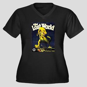 Lost World 1925 Women's Plus Size V-Neck Dark T-Sh