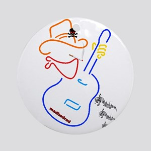 Cowboy Guitar Ornament (Round)