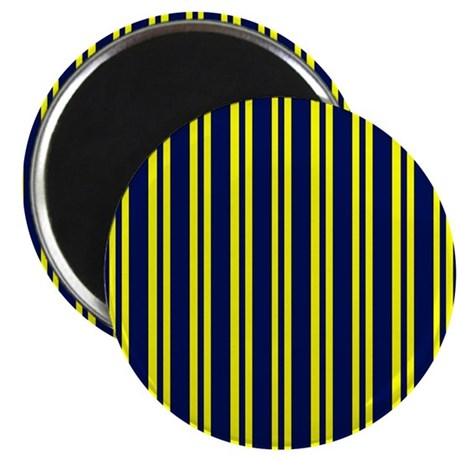"""Navy Yellow Stripes 2.25"""" Magnet (10 pack)"""