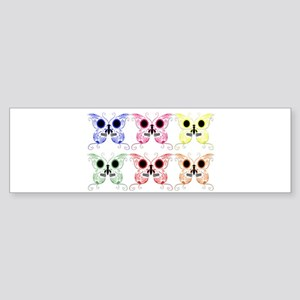 Sugar Skull Butterfly Display Sticker (Bumper)