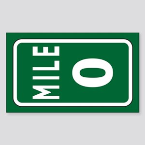 Mile 0 Stickers Sticker (Rectangle)