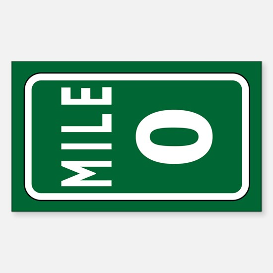 Mile 0 stickers sticker rectangle