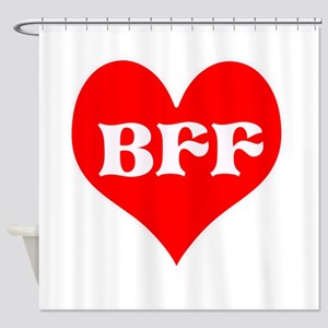 BFF! Best friends forever! He Shower Curtain