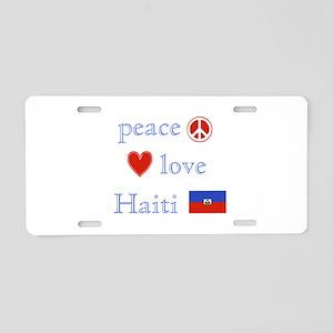 Peace, Love and Haiti Aluminum License Plate