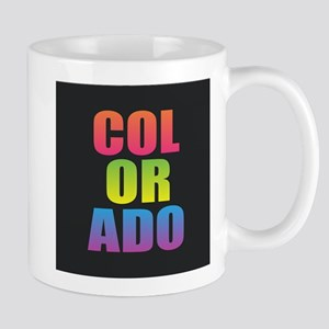 Colorado Black Rainbow Mugs