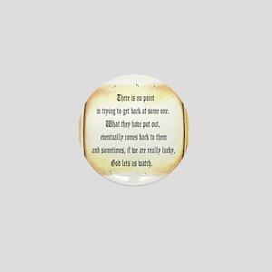 God Lets Us Watch Mini Button