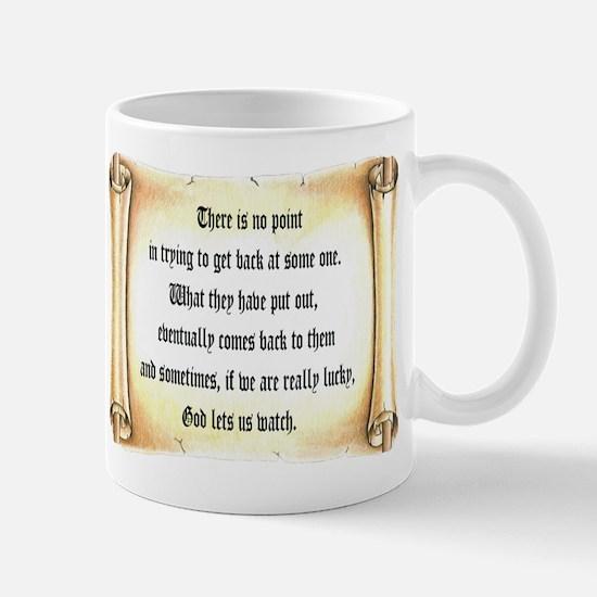 God Lets Us Watch Mug
