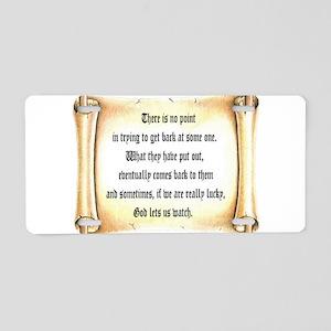God Lets Us Watch Aluminum License Plate