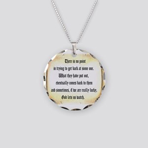God Lets Us Watch Necklace Circle Charm