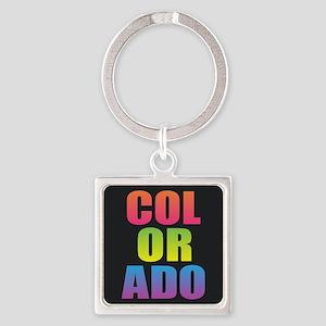 Colorado Black Rainbow Keychains