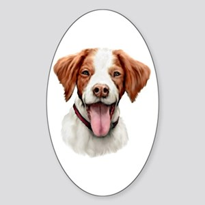 Brittany Bust Oval Sticker